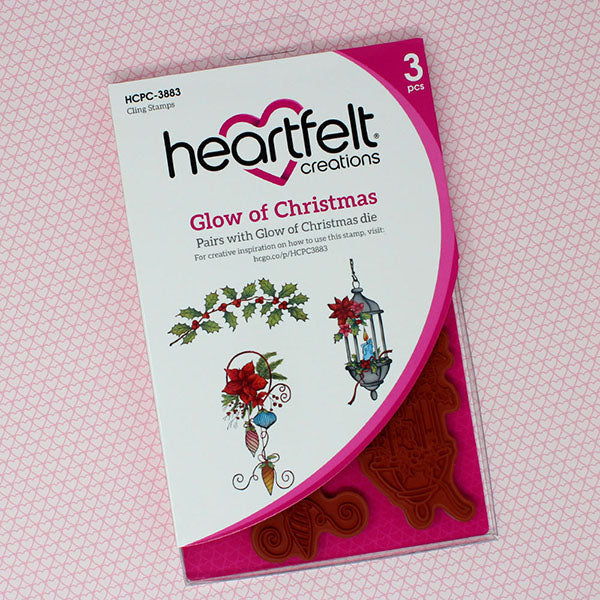 Heartfelt Creations Cling Rubber Stamp Set, Glow Of Christmas