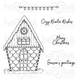 Heartfelt Creations Cling Rubber Stamp Set, Candy Cane Cottage