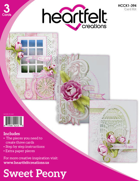 Heartfelt Creations -  Sweet Peony Card Kit Card Collection