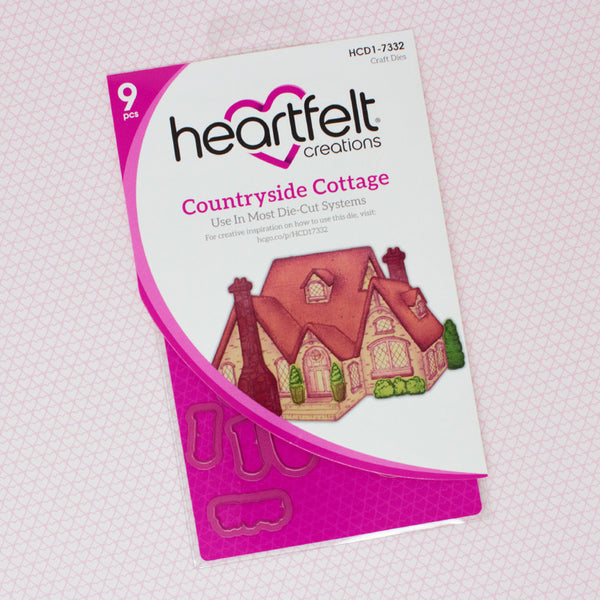 Heartfelt Creations Cut & Emboss Dies, Countryside Cottage (FREE Exclusive Online Class)