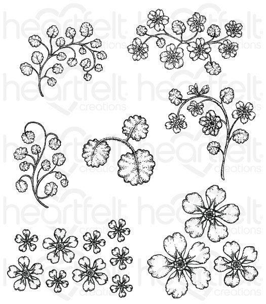 Heartfelt Creations - Wildwood Florals Cling Stamps
