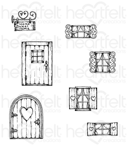 Heartfelt Creations - Wildwood Cottage Cling Stamps