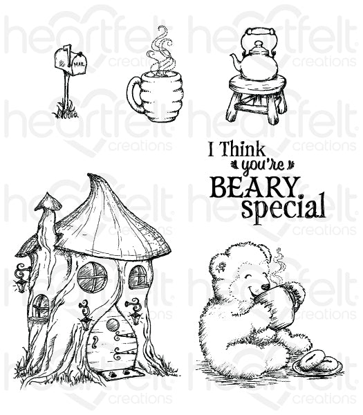 Heartfelt Creations, Cling Stamp, Happy Time Treehouse Set - Scrapbooking Fairies
