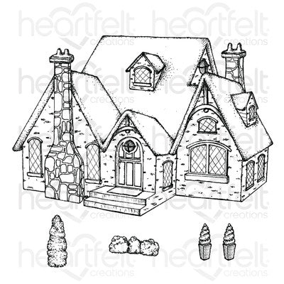 Heartfelt Creations Cling Rubber Stamp Set, Countryside Cottage (FREE Exclusive Online Class)