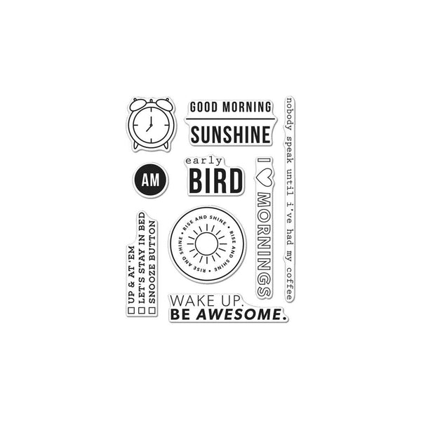 Kelly's Good Morning, Clear Stamps - Scrapbooking Fairies