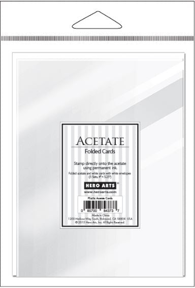 Hero Arts, Clear Acetate Cards (With Envelopes) - Scrapbooking Fairies