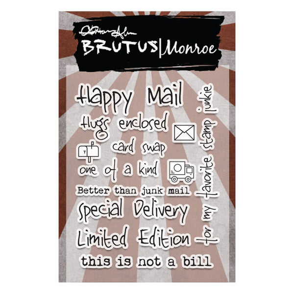 "Brutus Monroe, Clear Stamps, 3""x4"", Happy Mail"