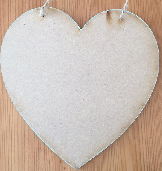"8"" Heart-Shaped MDF Board"