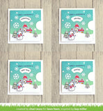 "Lawn Fawn, Clear Stamps 4""X6"", Reveal Wheel Holiday Sentiments"