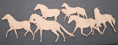 Southern Ridge, Chipboard Die Cut, Horse Herd