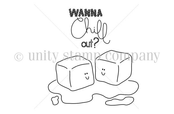 """itty bitty"" collection, Wanna Chill, Unity, Cling Stamps (Price Firm)"