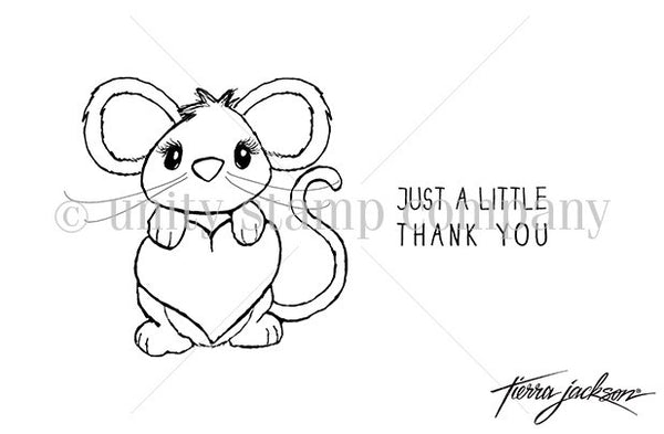"""itty bitty"" collection, Just A Little Thank You, Unity, Cling Stamps (Price Firm)"
