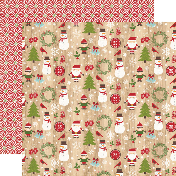 "I Love Christmas, Double-Sided Cardstock 12""X12"", Here Comes Santa"