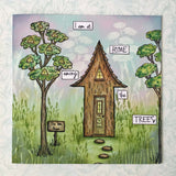 PaperArtsy, E³ Kay Carley EKC39, Cling Stamps (A5 set, trimmed, on EZ)