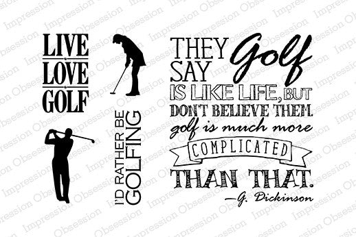 Impression Obsession, Clear Stamp, Golf Set