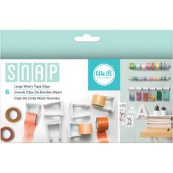 We R Memory Keepers, Snap Storage Washi Tape Clips 6/Pkg, Large - Scrapbooking Fairies