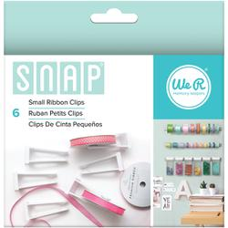 We R Memory Keepers, Snap Storage Ribbon Clips 6/Pkg, Small - Scrapbooking Fairies