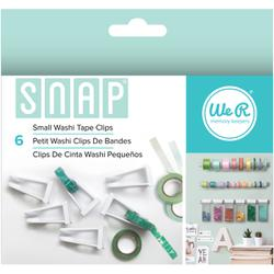We R Memory Keepers, Snap Storage Washi Tape Clips 6/Pkg, Small - Scrapbooking Fairies