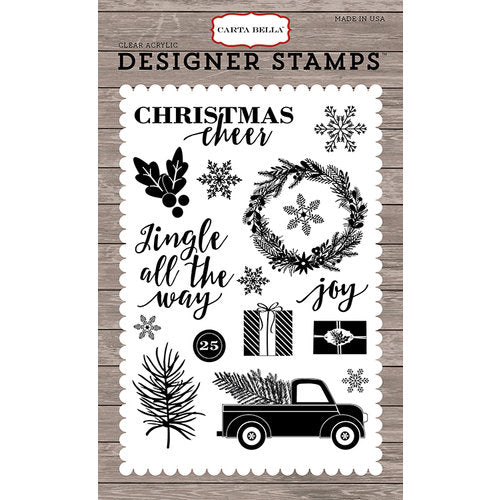 Carta Bella, Christmas Delivery Collection, Jingle All The Way, Clear Stamp (Retired)