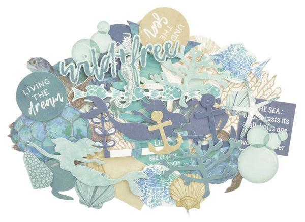 Kaisercraft Collectables Cardstock Die-Cuts, Deep Sea