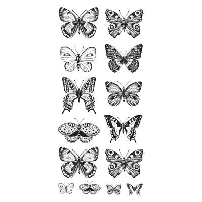 "Kaisercraft Clear Stickers 5.75""X12"", Butterflies"