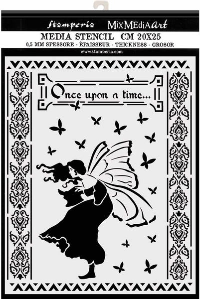 "Stamperia Stencil 7.87""X9.84"", Once Upon A Time, Winter Tales"