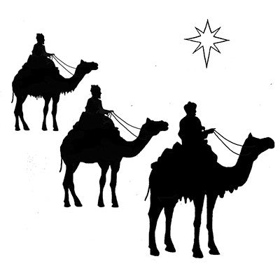 Lavinia Stamp, Three Kings and a Star (LAV090), Clear Stamp
