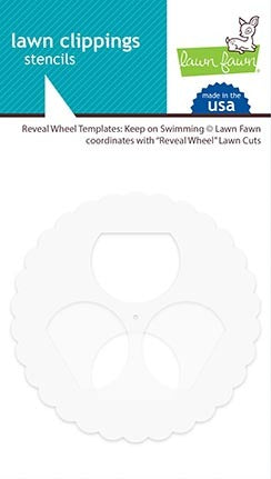 Lawn Fawn, Lawn Clippings Stencils, Reveal Wheel Templates: Keep on Swimming
