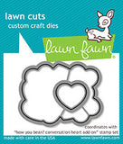 Lawn Fawn, How You Been? Conversation Heart Add-on, Clear Stamps & Dies Combo (LF1553 & LF1554)