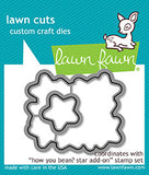 Lawn Fawn, How You Been? Star Add-on, Clear Stamps & Dies Combo (LF1690 & LF1691)