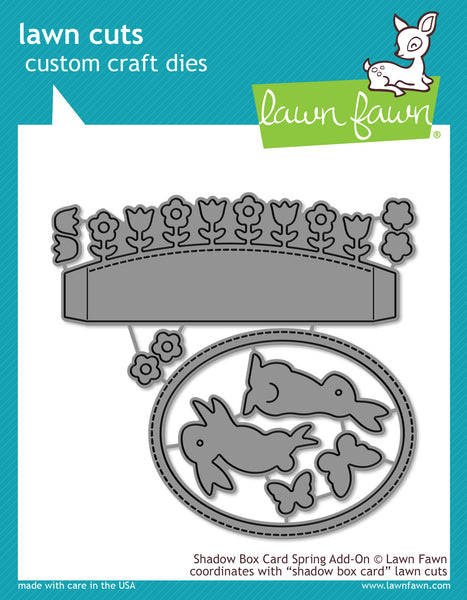 Lawn Cuts Custom Craft Die, Shadow Box Card Spring Add-On