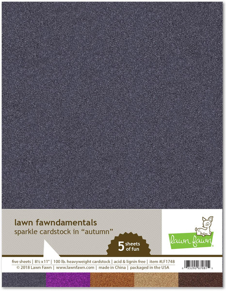 Lawn Fawn, 8.5X11, Sparkle Cardstock - Autumn, 100lb Heavyweight