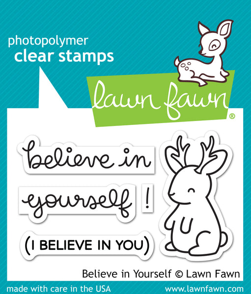Lawn Fawn Clear Stamps & Dies Combo, Believe In Yourself (LF1042 & LF1043)