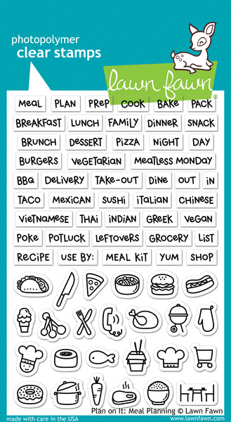 "Lawn Fawn Clear Stamps 4""X6"", Plan On It: Meal Planning"