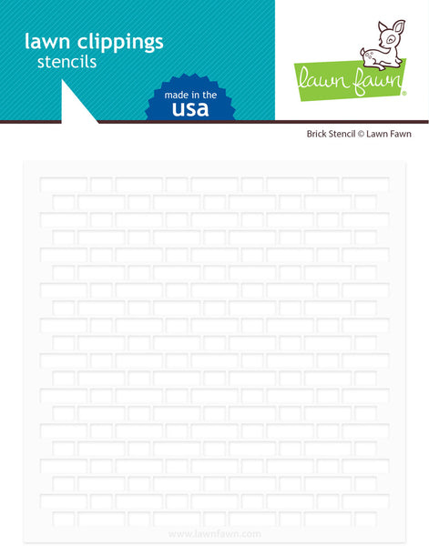 Lawn Fawn, Lawn Clippings Stencils, Brick
