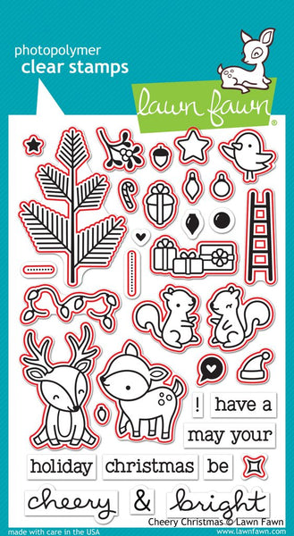 Lawn Fawn, Clear Stamps & Dies Combo, Cheery Christmas (LF1216 & LF1217)
