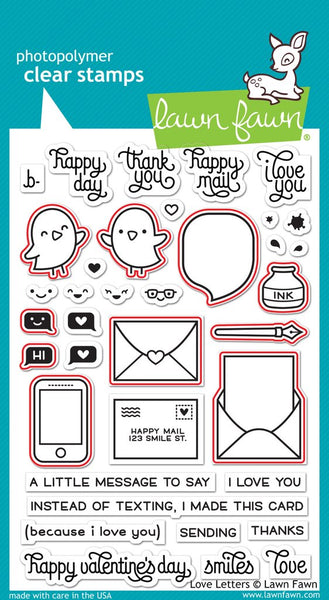 Lawn Fawn, Clear Stamps & Dies Combo, Love Letters (LF1292 & LF1293)