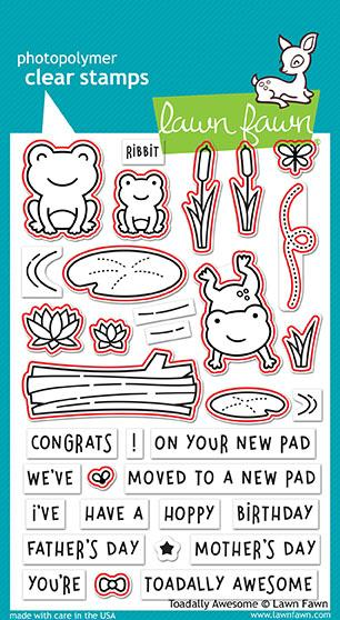 Lawn Fawn, Clear Stamps & Dies Combo, Toadally Awesome (LF1581 & LF1582)