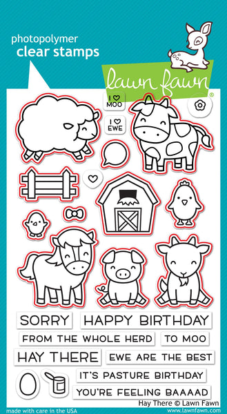 Lawn Fawn Clear Stamps & Dies Combo, Hay there (LF1595 & LF1596)