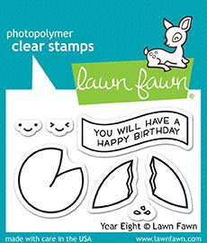 Lawn Fawn, Year Eight Clear Stamps & Dies Combo (LF1605 & LF1606)
