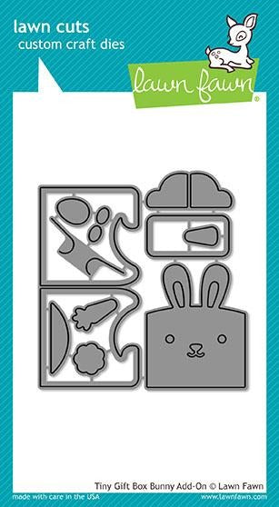 Lawn Fawn, Lawn Cuts Custom Craft Dies, Tiny Gift Box Bunny Add-On