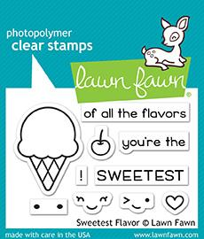 Lawn Fawn, Sweetest Flavor, Clear Stamps & Dies Combo