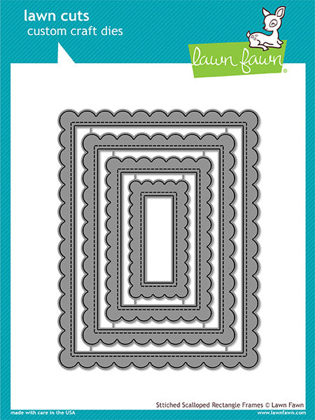 Lawn Cuts Custom Craft Die, Stitched Scalloped Rectangle Frames