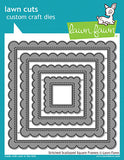 Lawn Cuts Custom Craft Die, Stitched Scalloped Square Frames