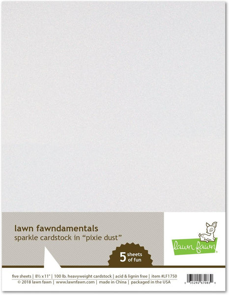 Lawn Fawn, 8.5X11, Sparkle Cardstock - Pixie Dust, 100lb Heavyweight