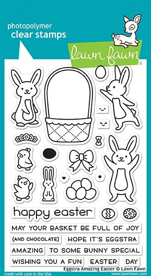 Lawn Fawn, Eggstra Amazing Easter Clear Stamps & Dies Combo