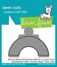 Lawn Fawn, Lawn cuts custom Craft Dies, Reveal Wheel Semicircle Add-On