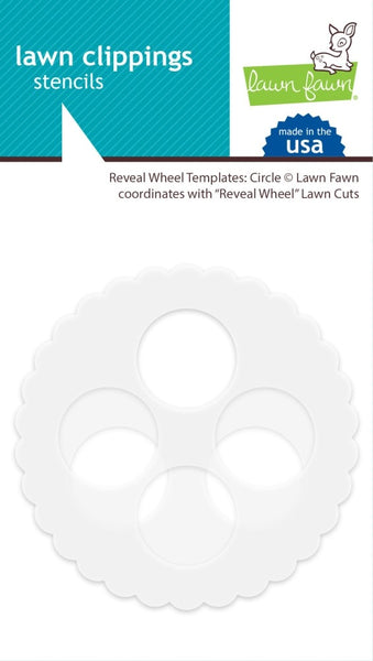 Lawn Fawn, Lawn Clippings Stencils, Reveal Wheel Template: Circle
