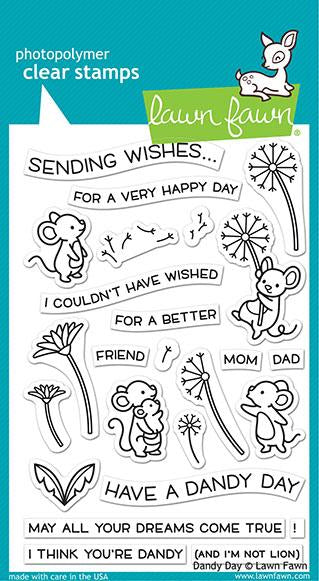 Lawn Fawn Clear Stamps & Dies Combo, Dandy Day (LF2217 & LF2218)