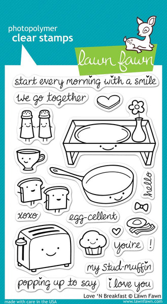 Lawn Fawn, Love'n Breakfast, Clear Stamps - Scrapbooking Fairies